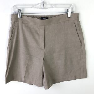 Theory Harsbie Shorts Linen Blend Size 6 #1636